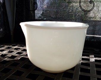 Vintage Sunbeam Fire King Mixing Bowl White, Made in USA