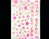 Cherry Blossom Stickers - Japanese Washi Paper Stickers - Chiyogami Flower Stickers - Cherry Blossom stickers -  (S215)