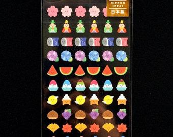 Japanese Stickers - Seasonal -  Japanese Washi Paper Stickers - Chiyogami Stickers - Traditional Japanese - Hina Matsuri - Blossoms  (S77)