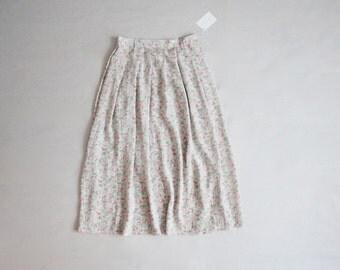 silk floral skirt | full silk skirt | high waist skirt