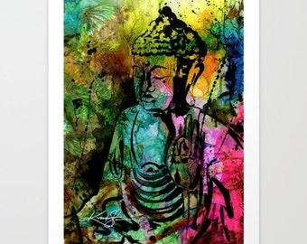 "Buddha Zen art Painting, Large Giclee Print,  ""Buddha Love 11"" Original by Kathy Morton Stanion  EBSQ"