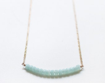 skylight – minimalist beaded necklace