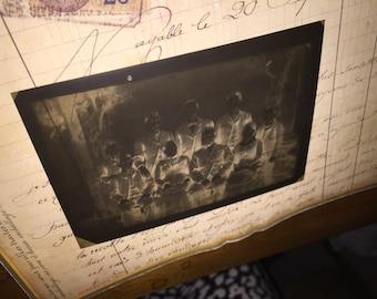 Antique Family Photo Negative
