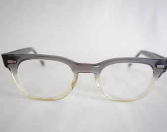 True Vintage 1950s Men's Eyeglass GRAY CLEAR Fade Frames 50s Eyewear Glasses Men's Sunglasses Retro Mod Rockabilly Unique Midcentury C26