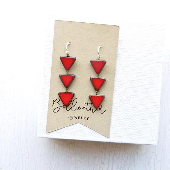 Angle Earrings > Red