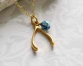 WISHBONE Charm - Gold - RESERVED for annjohnson725