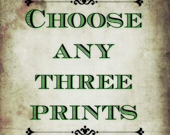 3 Print Packs! Pick any design!