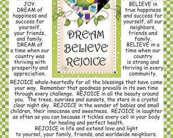 Dream, Believe, Rejoice - Girlfriend Wisdom Column