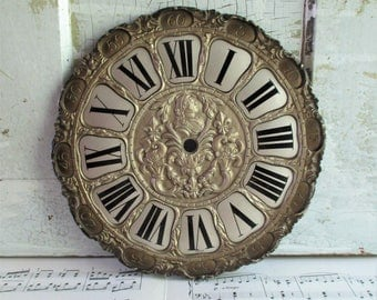 Vintage German Ornate Roman Numeral Clock Face