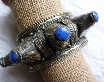 Handmade Ethnic Spike Bracelet from Afghanistan, Belly Dance Costume Supplies