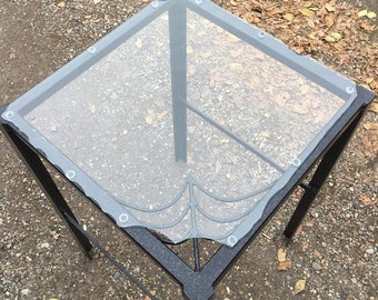 "Abstract  Gothic Spider Web Table (18""x18""x31"")"