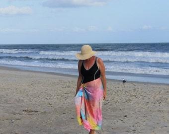 Just Beachy ... hand painted silk sarong