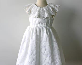 Flower Girl Dress, Lace Flower Girl Dress, Off White Flower Girl Dress, Rustic Flower Girl Wedding, Toddler Flower Girl, Country Flower Girl