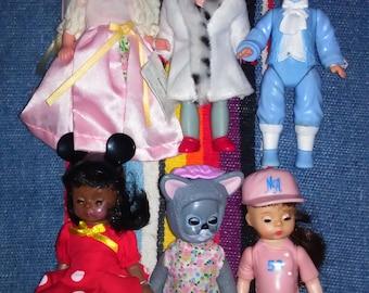 Madame Alexander Mini Doll Lot of 6 Madame Alexander Collectable Dolls Madame Alexander Dolls Small Doll Lot