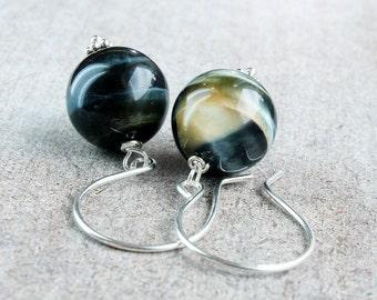 Hawks Eye Earrings Sterling Silver Gemstone Jewelry Blue Tigers Eye  Online Jewellery Gem Stone Earrings Customized