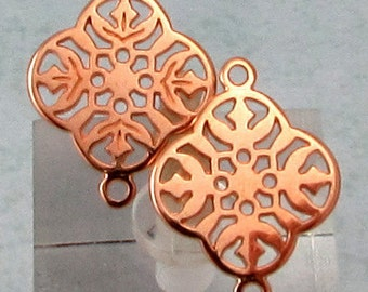 Filigree Connector, Rose Gold, 2 Pieces, RG28