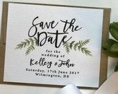 Printable Save the Date // Floral Wedding // Greenery Wedding // Save the Date Printable // Leafy Wreath Invite