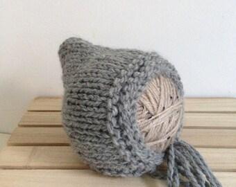 REDUCED....RTS .... newborn hand knit Pixie Bonnet