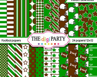 football digital papers, sports printable background, football pattern available for commercial use, instant download