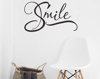 Smile Wall Decal, Smile Vinyl Decal, Smile Word Art, Dentist Office Decor,