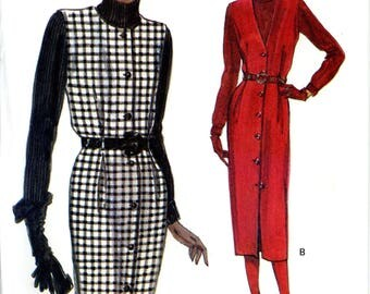 Vogue 8477 Easy Button Front Jumper and Knit Pullover Top Size 8 10 12 Uncut Vintage Sewing Pattern 1992