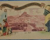 Postcard Le Puy Languedoc Roussillon Comte de Foix France Artist Signed Gaston Marechaux Antique Divided Back
