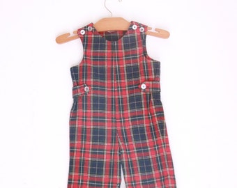 vintage plaid jonjon by imp 12 to 18 months red and black plaid holiday outfit