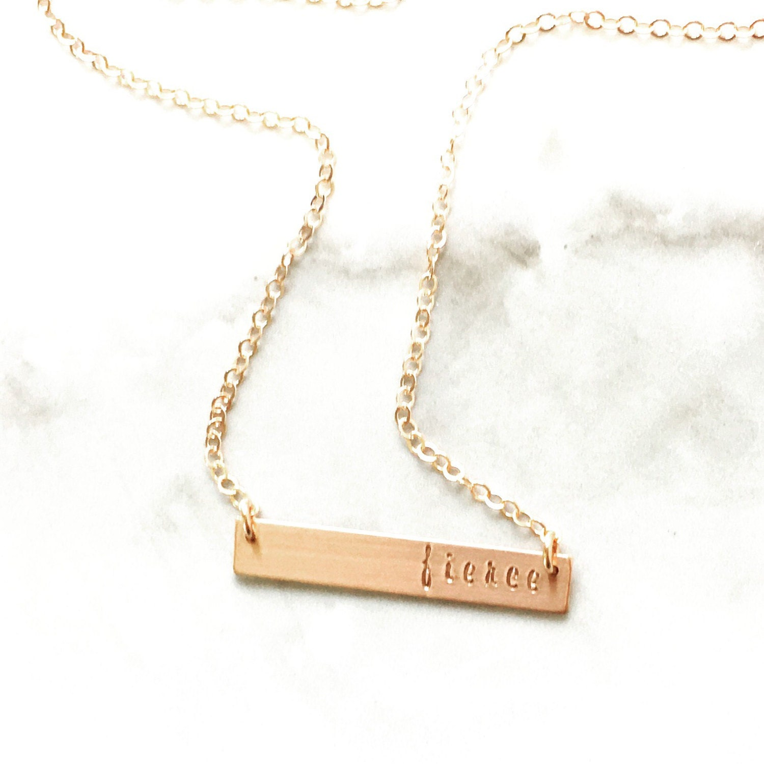 gold bar necklace initial necklace gold by