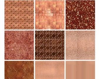 Digital Texture Pack - Copper Metallic Sampler 1 (Photoshop)