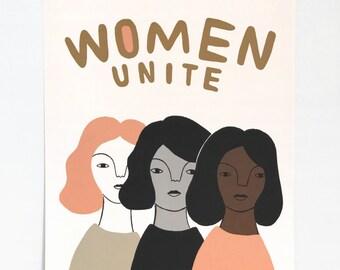 Women Unite 11 x14 Print