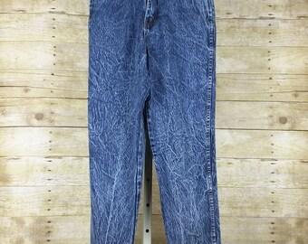 Vintage Blue Acid Wash High Waist Jeans Misses 8 S Stefano