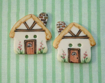 Cottage Buttons set of 2