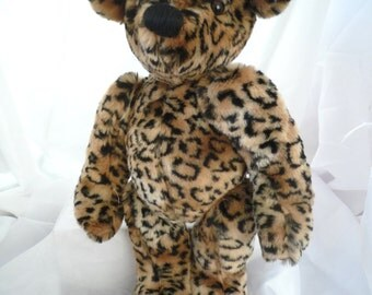 "18"" Teddy Bear Animal print plush"