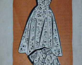 Vintage 50's Mail Order 4792 Sewing Pattern, Misses' Dress and Bolero Jacket, Size 16, 36 Bust, 1950's Fashion