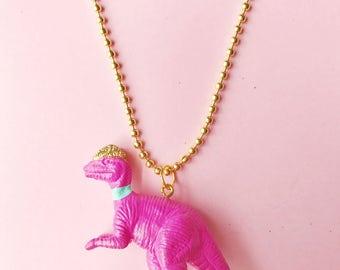Dinosaur Necklace. Kids Jewelry. Girls Jewelry. Dino Necklace. Girls Necklace. Kids necklace. Girl gift. Dilophosaurus. Easter gift for Kid