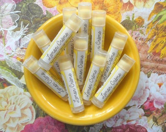 Lemon Crème Vegan Lip Balm - Limited Edition Sweet Summer Flavor