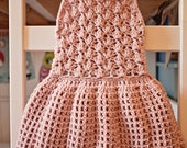 Crochet dress PATTERN - Pleated Dress (sizes up to 8 years)