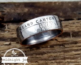 Coin Ring Grand Canyon National Park Quarter MR0705-Tnpgc