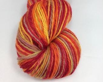 Handspun Yarn Sock Yarn 'Tomato Bisque' SW merino nylon 430 yds nply