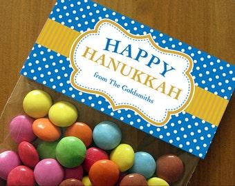 Personalized Hanukkah Treat Bag Toppers – DIY Printable (Digital File)