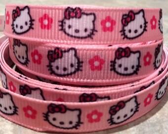 3 yards hello kitty 3/8 inch ribbon