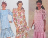 "Simplicity 7061 - Totally Retro Drop-Waist Dress - Vintage 1990s, But 1920s Style - Size 10, 12, 14, 18 - Bust: 32"" - 40"" - UNCUT"