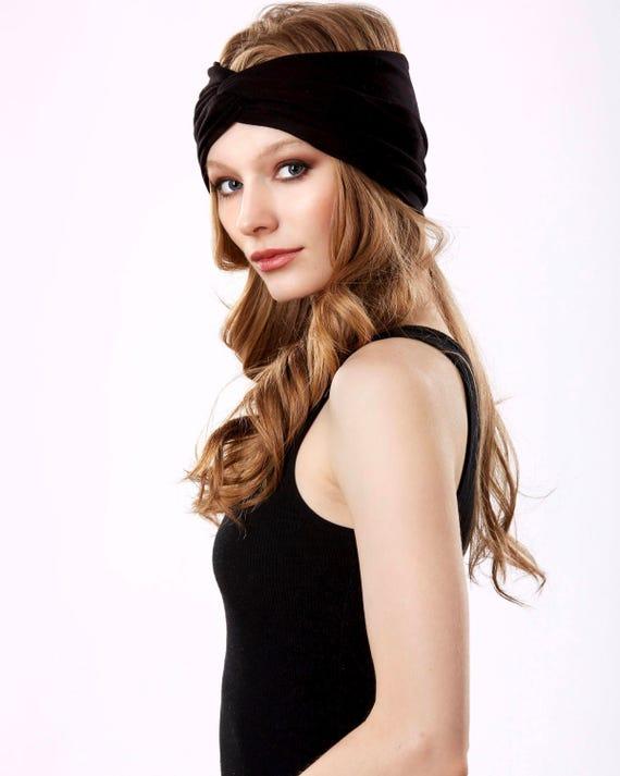 Turban Headband Turband Headwrap Hair Accessory Black Headband Boho Spring Accessory 1920s Headband Soft Headband Head Wrap Spring Fashion
