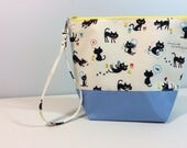 Small Project Bag - cute kittens