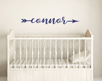 Personalized wall decal, Boys wall decals, Nursery wall decal, Arrow Name wall decals, Vinyl wall decals, Children's wall decal DB426