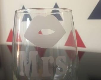 SALE - Mrs. Lips Wine Glass