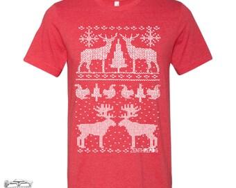 Men's CHRISTMAS Sweater Print t shirt s m l xl xxl (+ Color Options)