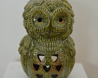 Vintage OWL Candle Holder made in USA 1960's