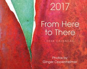 2017 desk calendar. Minimal, simple, quiet, colorful.