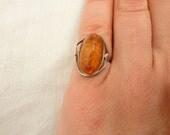 Vintage Baltic Amber Ring Size 5